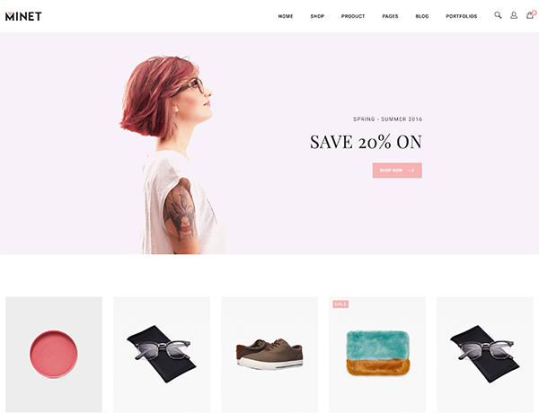 Minimalist eCommerce WordPress Theme