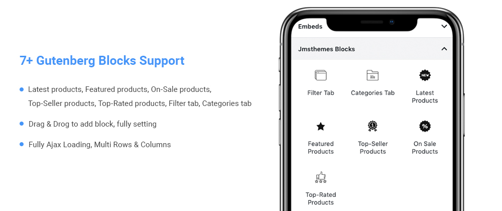 Gutenberg block support
